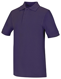 Classroom Youth Unisex Short Sleeve Pique Polo (58322-PUR) (58322-PUR)