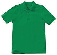 Classroom Uniforms Youth Unisex Short Sleeve Pique Polo SS Kelly Green (58322-SSKG)