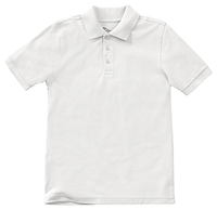 Classroom Uniforms Youth Unisex Short Sleeve Pique Polo SS White (58322-SSWT)