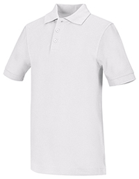 Classroom Uniforms Youth Unisex Short Sleeve Pique Polo White (58322-WHT)