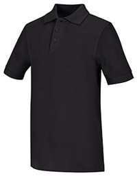 Adult Unisex Short Sleeve Pique Polo (58324-BLK)