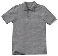 Classroom Uniforms Adult Unisex Short Sleeve Pique Polo Heather Gray (58324-HGRY)