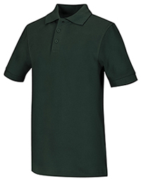 Classroom Uniforms Adult Unisex Short Sleeve Pique Polo Hunter Green (58324-HUN)