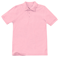Classroom Adult Unisex Short Sleeve Pique Polo (58324-PINK) (58324-PINK)