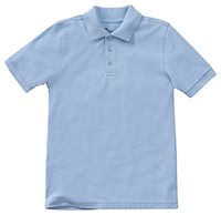 Classroom Uniforms Adult Unisex Short Sleeve Pique Polo SS Light Blue (58324-SSLB)