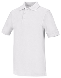 Classroom Uniforms Adult Unisex Short Sleeve Pique Polo White (58324-WHT)
