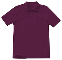 Classroom Uniforms Adult Unisex Short Sleeve Pique Polo Wine (58324-WINE)