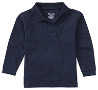 Classroom Uniforms Preschool Unisex LS Pique Polo Dark Navy (58350-DNVY)