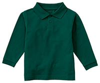 Classroom Uniforms Preschool Long Sleeve Pique Polo SS Hunter Green (58350-SSHN)