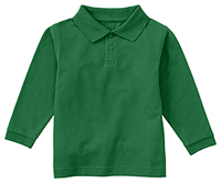 Classroom Uniforms Preschool Long Sleeve Pique Polo SS Kelly Green (58350-SSKG)