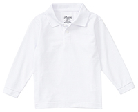 Classroom Uniforms Preschool Long Sleeve Pique Polo SS White (58350-SSWT)