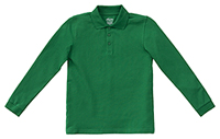 Classroom Uniforms Youth Unisex Long Sleeve Pique Polo SS Kelly Green (58352-SSKG)