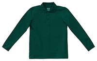 Adult Unisex Long Sleeve Pique Polo SS Hunter Green (58354-SSHN)