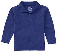Classroom Uniforms Adult Unisex Long Sleeve Pique Polo SS Royal (58354-SSRY)