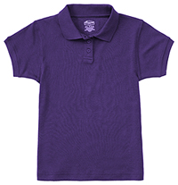 Classroom Girls Short Sleeve Fitted Interlock Polo (58582-DKPR) (58582-DKPR)