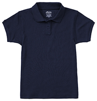 Classroom Uniforms Girls Short Sleeve Fitted Interlock Polo Dark Navy (58582-DNVY)