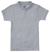 9611e28896 Classroom Uniforms Girls Short Sleeve Fitted Interlock Polo Heather Gray  (58582-HGRY)