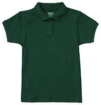 Classroom Uniforms Girls Short Sleeve Fitted Interlock Polo SS Hunter Green (58582-SSHN)