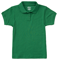 Classroom Uniforms Girls Short Sleeve Fitted Interlock Polo SS Kelly Green (58582-SSKG)