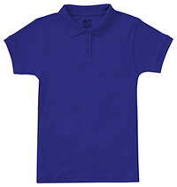 Girls Short Sleeve Fitted Interlock Polo SS Royal (58582-SSRY)