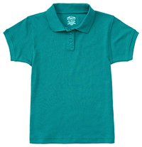 Classroom Girls Short Sleeve Fitted Interlock Polo (58582-TEAL) (58582-TEAL)
