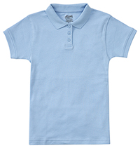 Classroom Uniforms Junior SS Fitted Interlock Polo SS Light Blue (58584-SSLB)