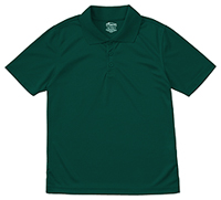 Classroom Uniforms Youth Unisex Moisture-Wicking Polo Shirt SS Hunter Green (58602-SSHN)