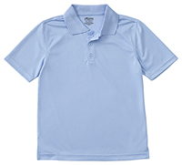 Classroom Uniforms Youth Unisex Moisture-Wicking Polo Shirt SS Light Blue (58602-SSLB)