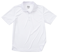 Classroom Uniforms Youth Unisex Moisture-Wicking Polo Shirt SS White (58602-SSWT)