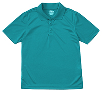 Classroom Youth Unisex Moisture-Wicking Polo Shirt (58602-TEAL) (58602-TEAL)