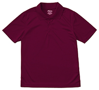 Adult Unisex Moisture-Wicking Polo Shirt Burgundy (58604-BUR)