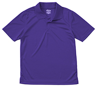 Classroom Uniforms Adult Unisex Moisture-Wicking Polo Shirt Dark Purple (58604-DKPR)