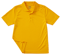 Classroom Uniforms Adult Unisex Moisture-Wicking Polo Shirt Gold (58604-GOLD)