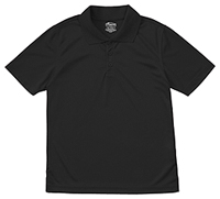 Classroom Uniforms Adult Unisex Moisture-Wicking Polo Shirt SS Black (58604-SSBK)