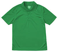 Classroom Uniforms Adult Unisex Moisture-Wicking Polo Shirt SS Kelly Green (58604-SSKG)