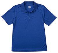 Classroom Uniforms Adult Unisex Moisture-Wicking Polo Shirt SS Royal (58604-SSRY)