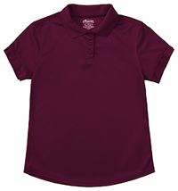 Classroom Uniforms Girls Short Sleeve Moisture Wicking Polo Burgundy (58632-BUR)