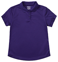 Classroom Uniforms Girls S/S Moisture Wicking Polo Dark Purple (58632-DKPR)