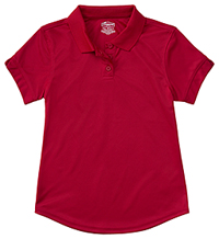 Classroom Uniforms Girls Short Sleeve Moisture Wicking Polo Red (58632-RED)