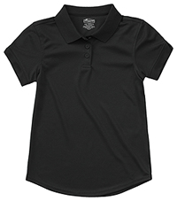 Classroom Uniforms Girls S/S Moisture Wicking Polo SS Black (58632-SSBK)