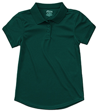 Classroom Uniforms Girls Short Sleeve Moisture Wicking Polo SS Hunter Green (58632-SSHN)