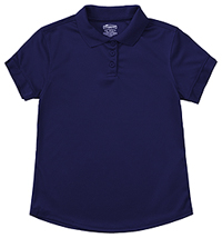 Classroom Uniforms Girls S/S Moisture Wicking Polo SS Navy (58632-SSNV)