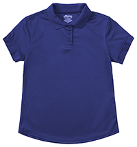 Classroom Uniforms Girls S/S Moisture Wicking Polo SS Royal (58632-SSRY)
