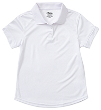 Classroom Uniforms Girls S/S Moisture Wicking Polo SS White (58632-SSWT)