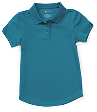 Classroom Uniforms Girls Short Sleeve Moisture Wicking Polo Teal (58632-TEAL)