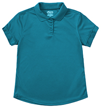 Classroom Uniforms Junior S/S Polo Moisture Wicking Teal (58634-TEAL)