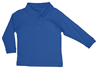 Classroom Uniforms Preschool Unisex LS Interlock Polo Royal (58700-ROY)