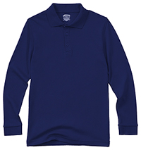 Youth Unisex Long Sleeve Interlock Polo