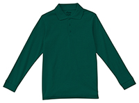 Classroom Uniforms Youth Unisex Long Sleeve Interlock Polo SS Hunter Green (58732-SSHN)