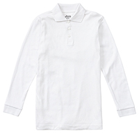 Classroom Adult Unisex Long Sleeve Interlock Polo (58734-SSWT) (58734-SSWT)